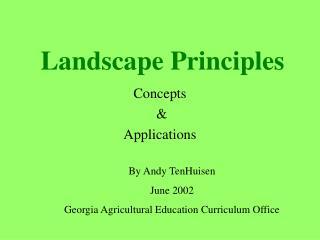 Landscape Principles