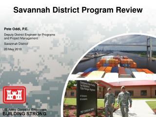 Savannah District Program Review
