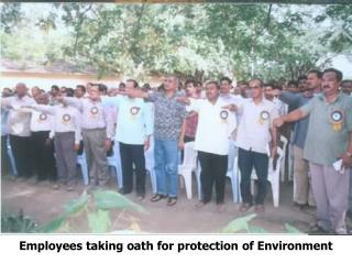 Employees taking oath for protection of Environment