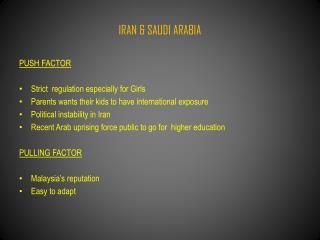 IRAN & SAUDI ARABIA