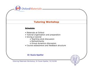 Tutoring Workshop