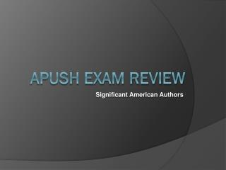 APUSH Exam Review
