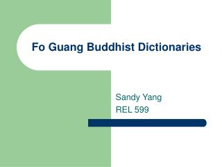 Fo Guang Buddhist Dictionaries
