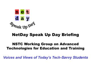 NetDay Speak Up Day for Students 2003