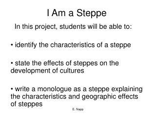 I Am a Steppe