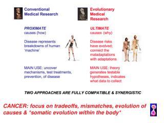 CANCER: focus on tradeoffs, mismatches, evolution of