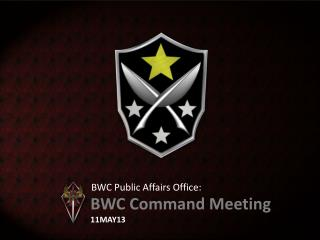 BWC Public Affairs Office: