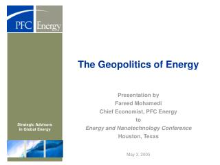 The Geopolitics of Energy