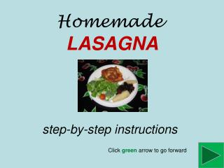 Homemade LASAGNA step-by-step instructions