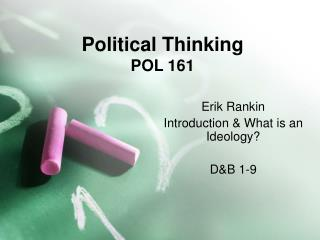 Political Thinking POL 161
