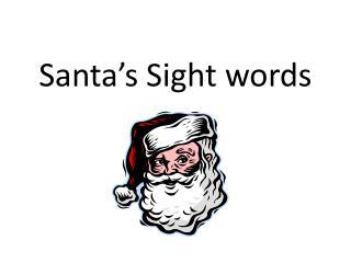 Santa's Sight words