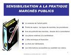 Sensibilisation aux march s publics mars 11 CARIF