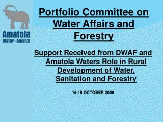 Portfolio Committee on Water Affairs and Forestry