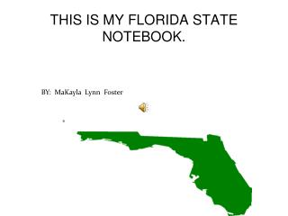 THIS IS MY FLORIDA STATE NOTEBOOK.