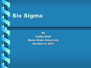 Quality Management Six Sigma Quality