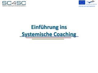 Einf�hrung  ins Systemische Coaching