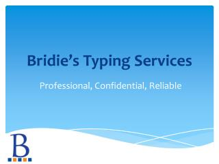 Bridie's Typing Services