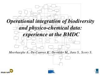 Operational integration of biodiversity  and physico-chemical data:  experience at the BMDC