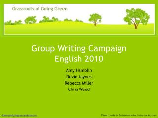 Group Writing Campaign   English 2010