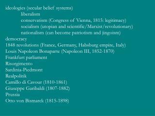 ideologies (secular belief systems) liberalism