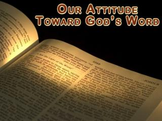 God's word is Scripture – communication with man