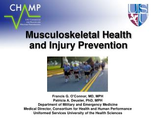 Musculoskeletal Health  and Injury Prevention