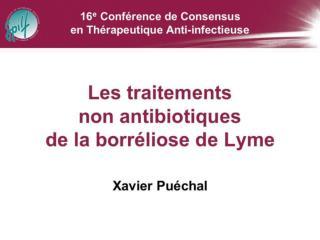 Borréliose de Lyme :  Traitements non antibiotiques