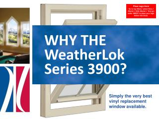 WHY THE WeatherLok  Series 3900?