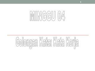 MINGGU 04