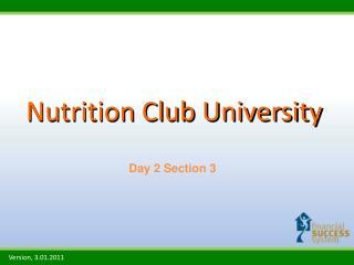 Nutrition Club University
