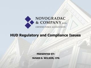 HUD Regulatory and Compliance Issues