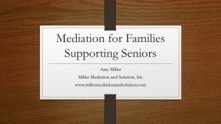 The Benefits of Mediation: A Housing Perspective