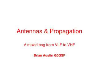 Antennas & Propagation