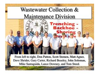 Wastewater Collection & Maintenance Division