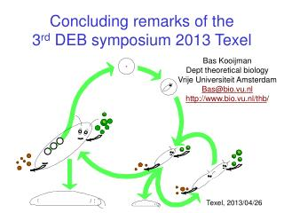 Concluding remarks of the 3 rd  DEB symposium 2013 Texel