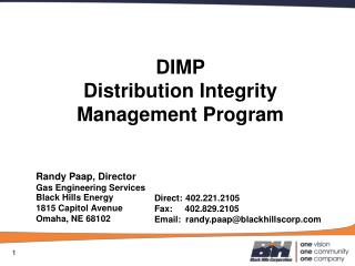 DIMP Distribution Integrity Management Program