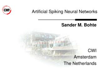 Artificial Spiking Neural Networks