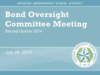 Bond Oversight Committee Meeting