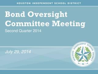 Bond Oversight Committee Meeting