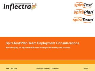 SpiraTest/Plan/Team Deployment Considerations