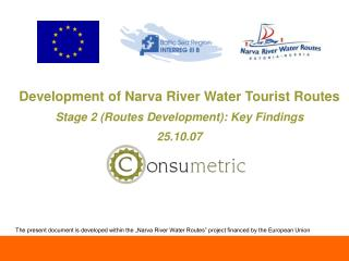 Development of Narva River Water Tourist Routes  Stage 2 (Routes Development): Key Findings