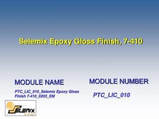 Selemix Epoxy Gloss Finish, 7-410