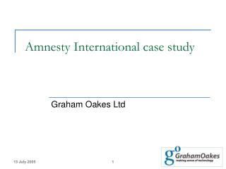 Amnesty International case study