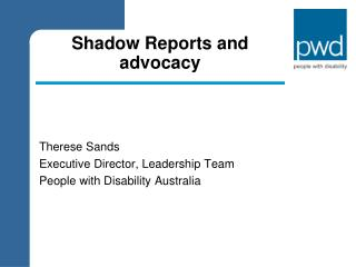 Shadow Reports and advocacy