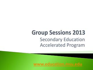 Group Sessions 2013