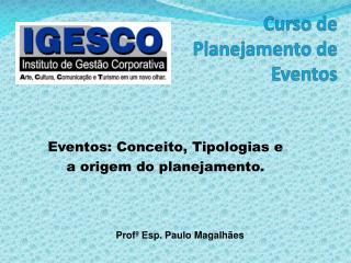 Curso de Planejamento  de Eventos
