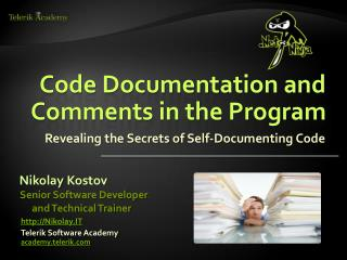 Code Documentation and Comments in the Program