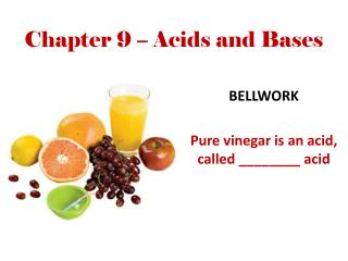 Chapter 9 – Acids and Bases