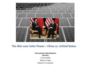 The War over Solar Power – China vs. United States