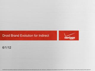 Droid Brand Evolution for Indirect